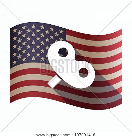 Isolated  Usa Flag With A Toy Crank