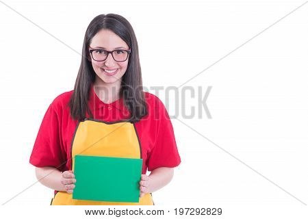 Storekeeper With Googles Holding Empty Paper