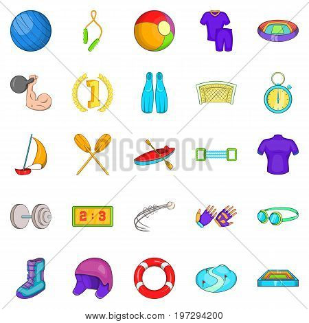 Best goal icons set. Cartoon set of 25 best goal icons for web isolated on white background