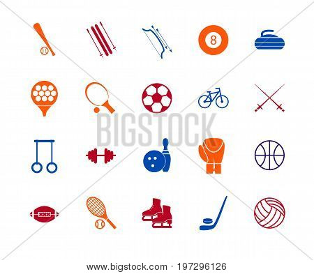 Sport Icon Signs and Symbols Color Line Set for Web or App Mobile. Vector illustration