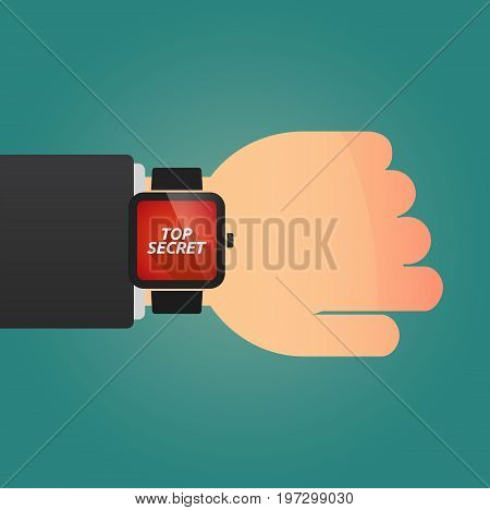 Hand With A Smart Watch And    The Text Top Secret