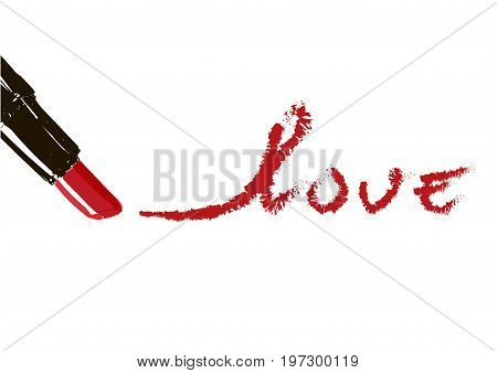 Inscription Lipstick Kiss Me.red Inscription Written Lipstick Kiss Me