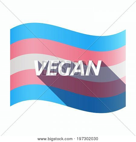 Isolated Transgender Flag With    The Text Vegan
