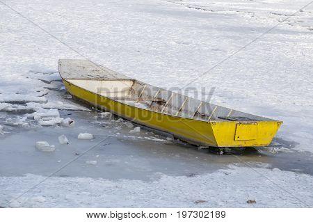 Sank Fishing Boat In Ice