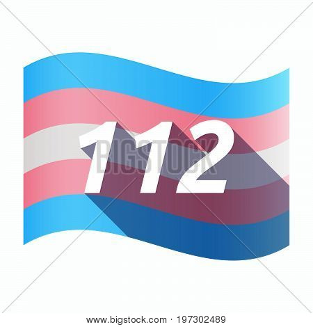 Isolated Transgender Flag With    The Text 112