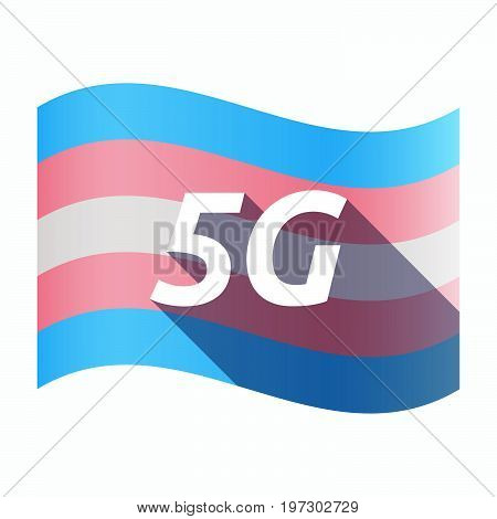 Isolated Transgender Flag With    The Text 5G