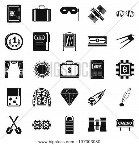 Adult games icons set. Simple set of 25 adult games icons for web isolated on white background