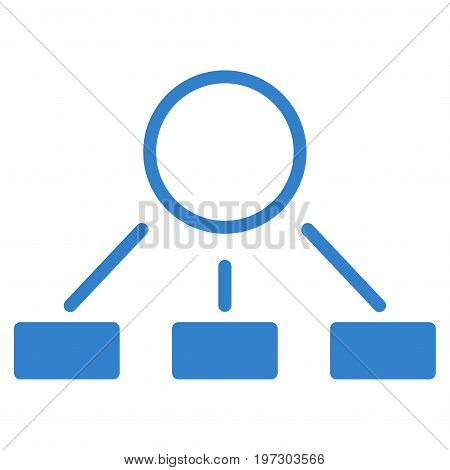 Hierarchy vector icon. Flat cobalt symbol. Pictogram is isolated on a white background. Designed for web and software interfaces.