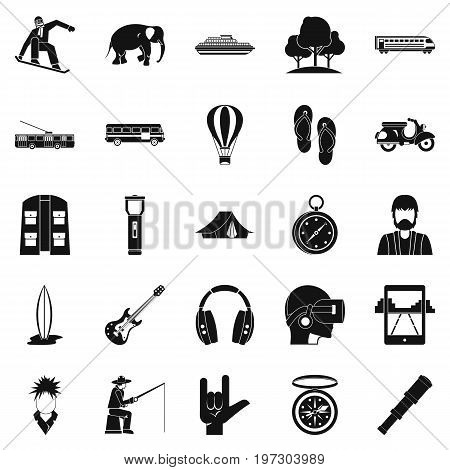 Campfire icons set. Simple set of 25 campfire icons for web isolated on white background