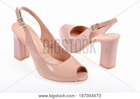 Summer Accessories: High Heel Patent Leather Pink Sandals