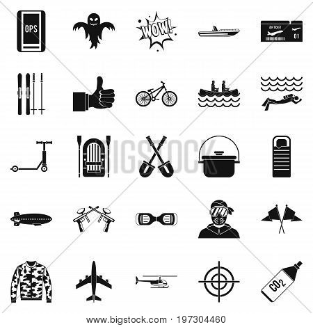 Leisure at the hotel icons set. Simple set of 25 leisure at the hotel icons for web isolated on white background