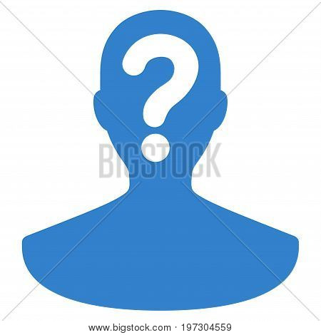 Unknown Person vector icon. Flat cobalt symbol. Pictogram is isolated on a white background. Designed for web and software interfaces.