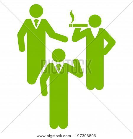 Discussion Group vector icon. Flat eco green symbol. Pictogram is isolated on a white background. Designed for web and software interfaces.