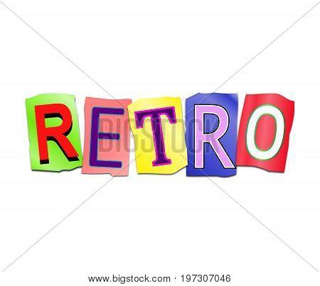 Retro Word Concept