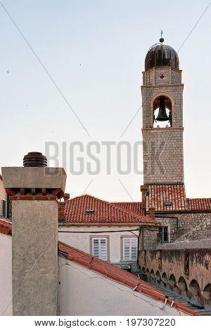 Belfry In Old Town Of Dubrovnik Croatia