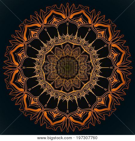 Sacral solar mandala, look like abstact sun