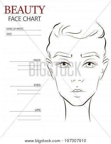 Beauty Face Chart. Vector & Photo (Free Trial) | Bigstock