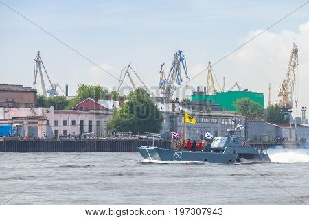 Rehearsal For Parade Of Russian Naval Forces