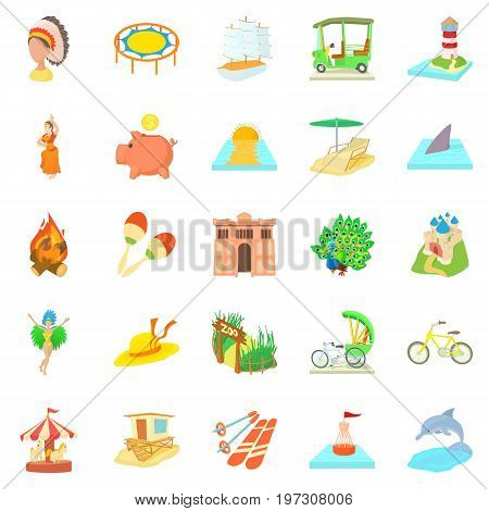 Attempt icons set. Cartoon set of 25 attempt icons for web isolated on white background