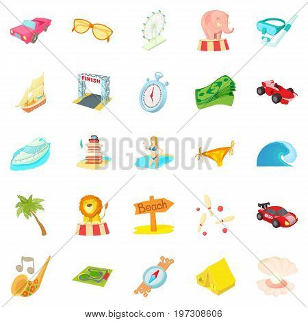 Persistence icons set. Cartoon set of 25 persistence icons for web isolated on white background