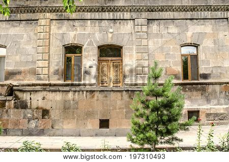 Old stone dwelling for the priests of the Church of St.Gayane in Echmiadzin