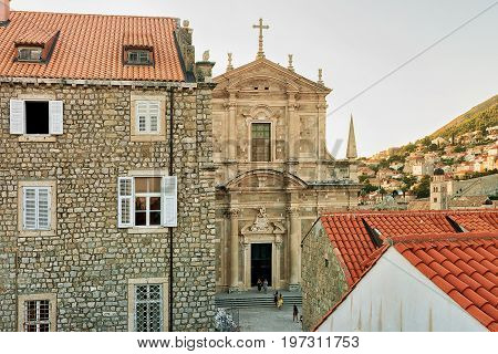 Franciscan Monastery In Old Town Of Dubrovnik Croatia