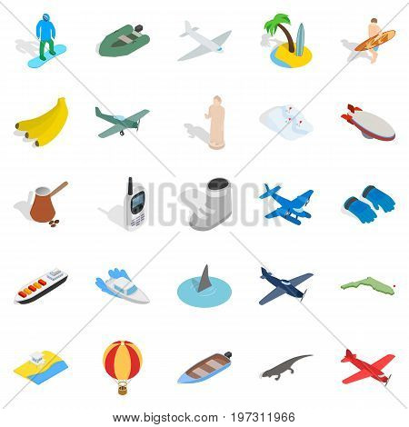Venture icons set. Isometric set of 25 venture vector icons for web isolated on white background