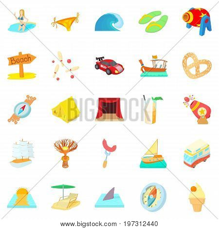 Risk icons set. Cartoon set of 25 risk icons for web isolated on white background