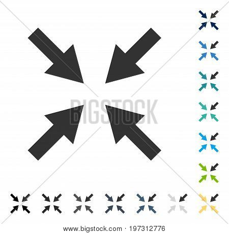 Compress Arrows icon. Vector illustration style is flat iconic symbol in some color versions.
