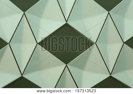 Detail Of Modern Geometric Wall Design