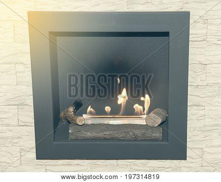 Artificial Natural Gas Fireplace 2