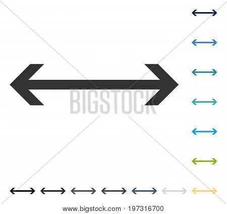 Horizontal Flip icon. Vector illustration style is flat iconic symbol in some color versions.