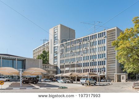 WINDHOEK NAMIBIA - JUNE 17 2017: Offices of the Ministry of Information an communication in Windhoek the capital city of Namibia