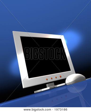 Computer-Bildschirm und Maus