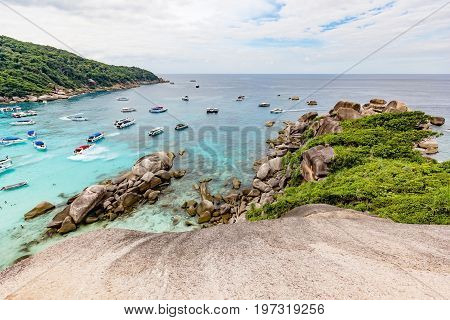 View Point at Similan island of Similan Island National Park on Andaman sea in Phuket Thailand.