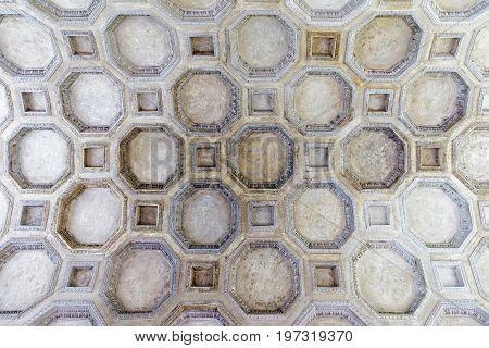 Decoration Of Ceiling In Sant Andrea Basilica At Mantua