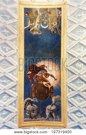 Decoration Of Ceiling At Sant Andrea Basilica In Mantua