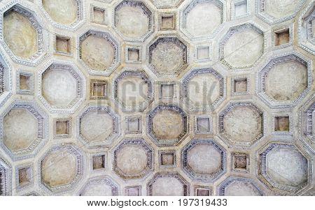 Decor Of Ceiling Of Sant Andrea Basilica In Mantua