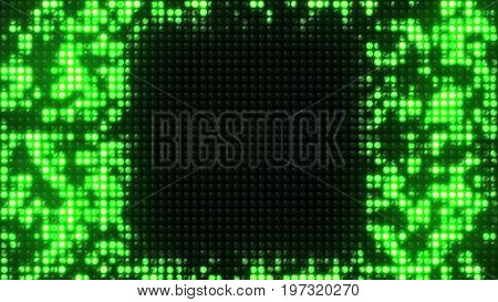 Abstract Particles Dots Beads Grid Info Background,screen Moniter,led Neon Scanning Big Data,detect