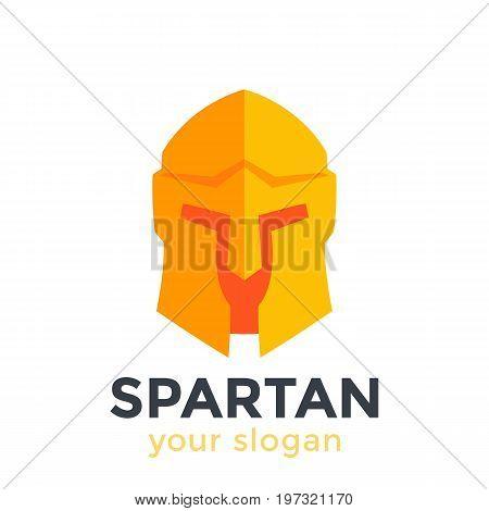 Spartan helmet, vector logo element in flat style, eps 10 file, easy to edit