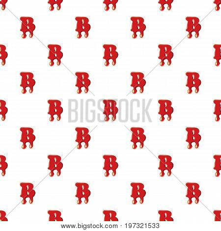 B letter isolated on white background. Red bloody B letter vector illustration