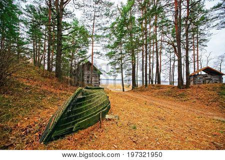 Sailboat At Ethnographic Open Air Village Of Riga Baltic
