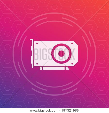 video card vector icon, eps 10 file, easy to edit
