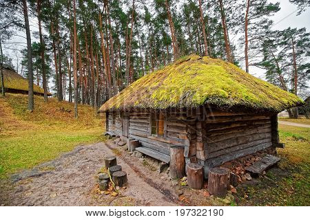 Old Building In Ethnographic Open Air Village Of Riga Baltic