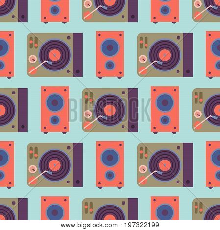 Hip hop accessory musician seamless pattern breakdance expressive rap music instruments. Modern fashion person dancer trendy icons lifestyle urban handsome rapper teenager expressive sign.