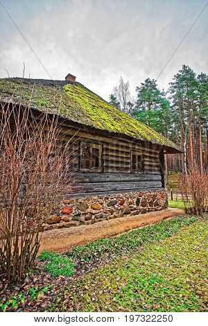 Old Building At Ethnographic Open Air Village Near Riga Baltic