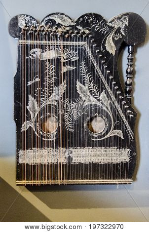 Kannel is an Estonian plucked string instrument belonging to the Baltic box zither family