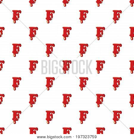 F letter isolated on white background. Red bloody F letter vector illustration