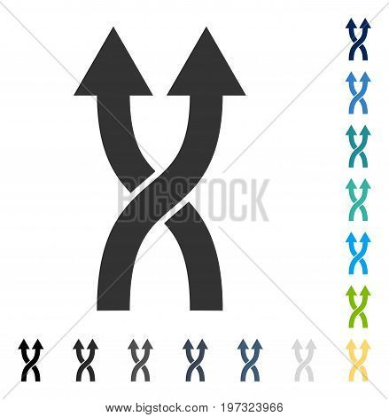 Shuffle Arrows Up icon. Vector illustration style is flat iconic symbol in some color versions.
