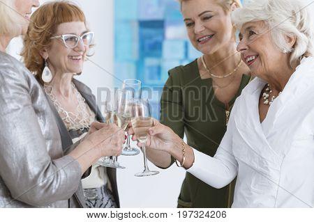 Four Happy Senior Ladies